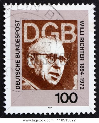 Postage Stamp Germany 1994 Willi Richter, Politician