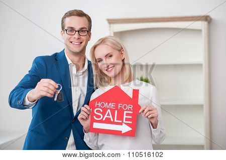 Pretty married couple is selling their house