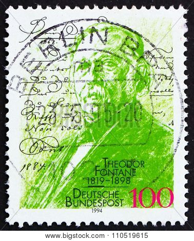 Postage Stamp Germany 1994 Theodore Fontane, Novelist And Poet