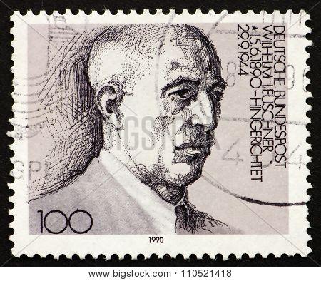 Postage Stamp Germany 1976 Wilhelm Leuschner