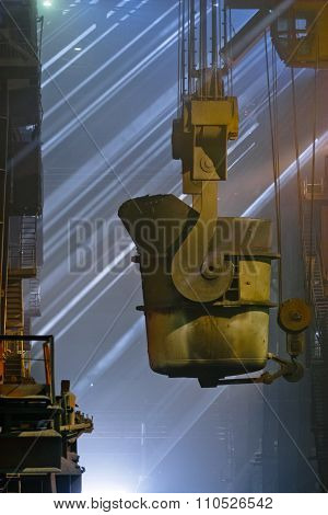 Workers cater for equipment