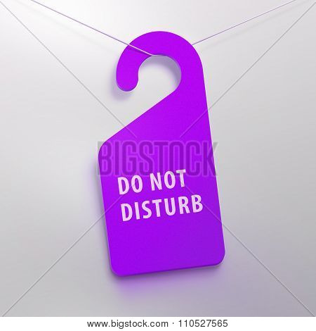 Do not disturb tag. Purple color.