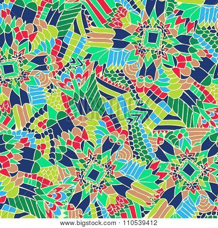 Zentangle Background Unuasual Colorful 4
