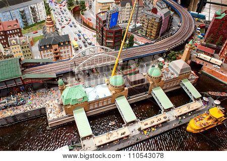 View Of Hamburg In Miniature