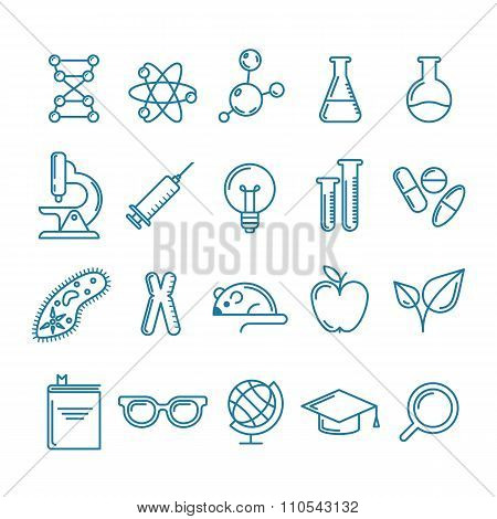Vector Outline Icons Set And Design Elements.