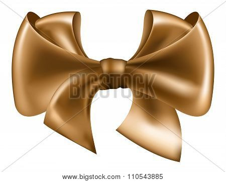 Vector golden bow