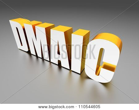 DMAIC (Define, Measure, Analyze, Improve, Control) - computer generated image 3D render