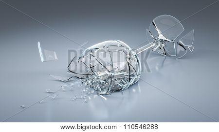 An image of a broken wine glass