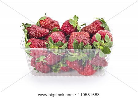 Fresh red ripe organic strawberries