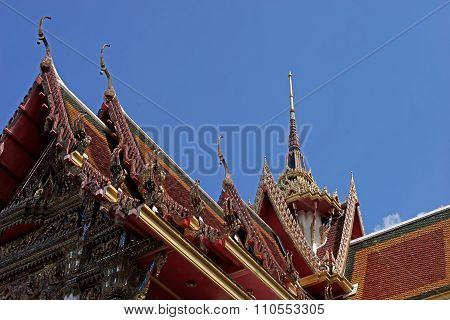 Gable Apex On Temple Roof
