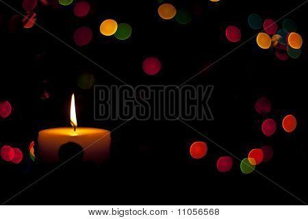 Candlelight on Christmas.