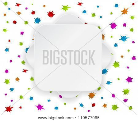 paper label banner temlate on festive colored background