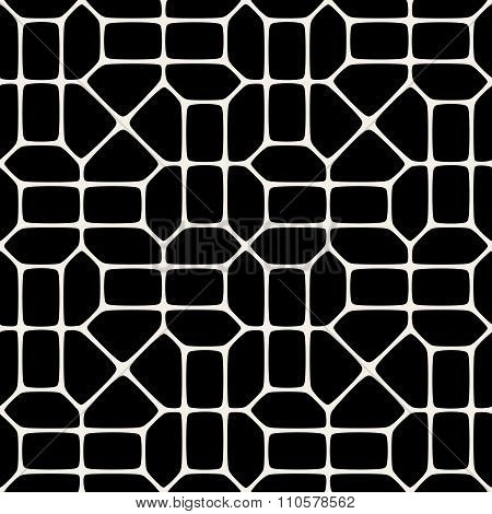 Vector Seamless Black And White Pavement Pattern