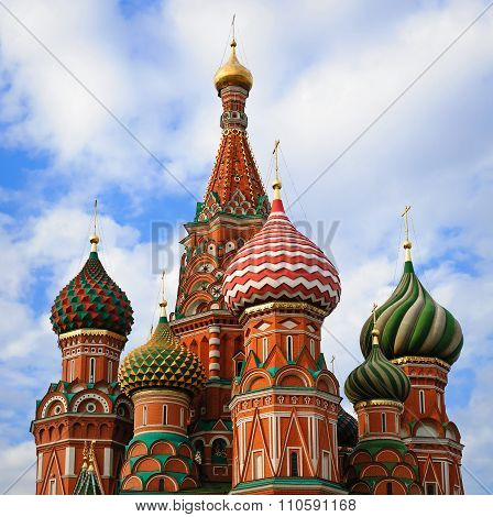 The Cathedral Of Vasily The Blessed In Red Square, Moscow, Russia