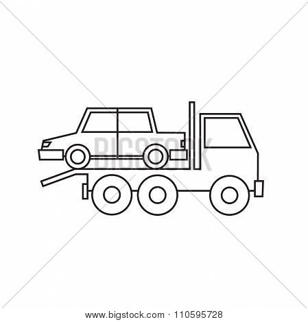 Tow truck driven cars