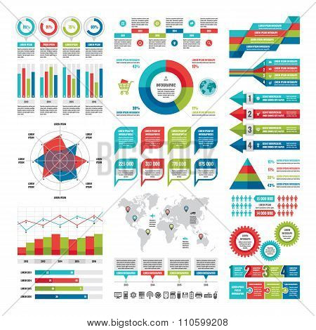 Business infographic concept - vector set of infographic elements.
