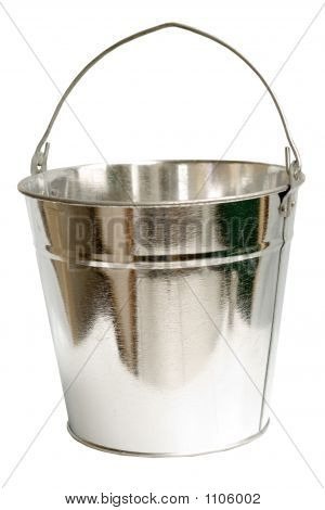Galvanized Steel Bucket (Inc Clipping Path)