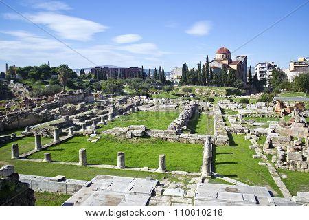 ancient cemetery in Athens Kerameikos Greece