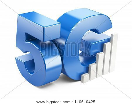 5G Sign. High Speed Mobile Web Technology.