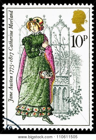 Britain Jane Austen Postage Stamp
