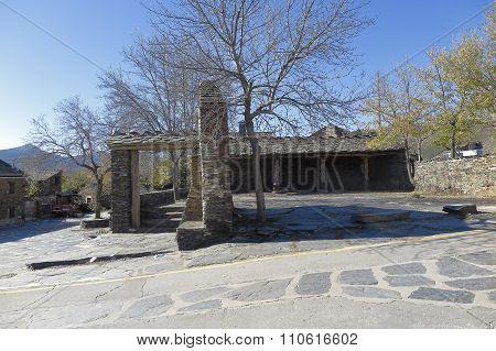 Main Square Of Campillo De Ranas