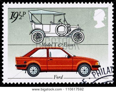 Britain Motor Car Postage Stamp
