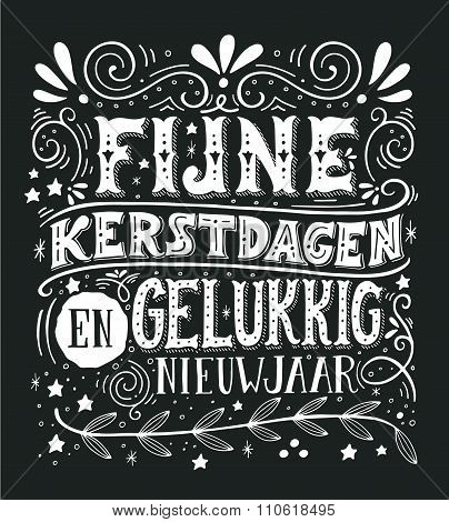 Retro Poster With Hand Lettering And Decoration Elements.