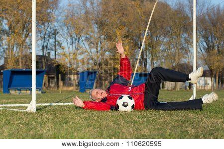Old Man Playing Football