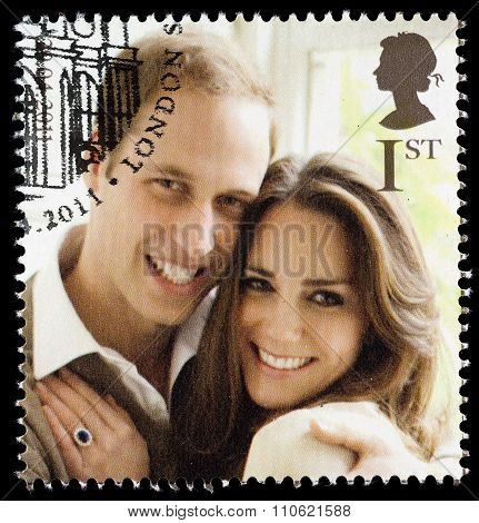 Prince William and Kate Middleton Royal Wedding Stamp