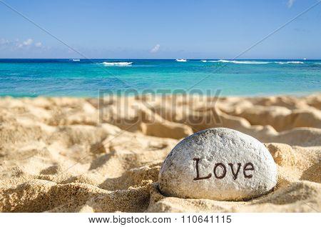 Sign Love On The Beach