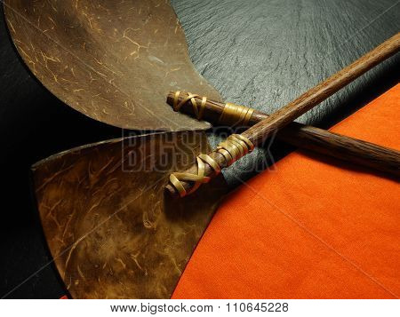 Balinese cooking spoon and spatula