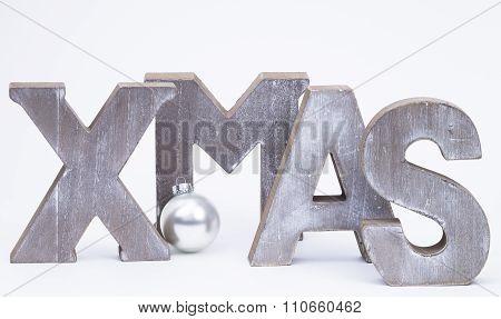 X-mas With Silver Christmas Ball