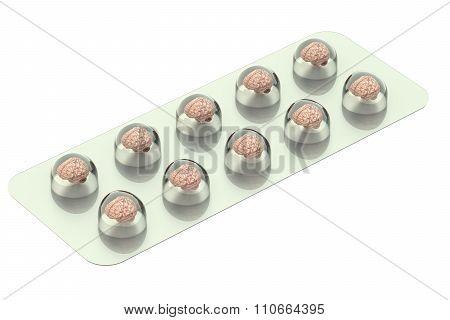 Brain Pills In The Blister