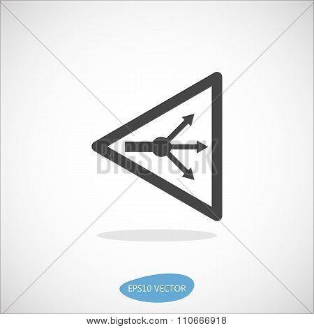 Gpon Splitter Icon - Isolated Vector Illustration