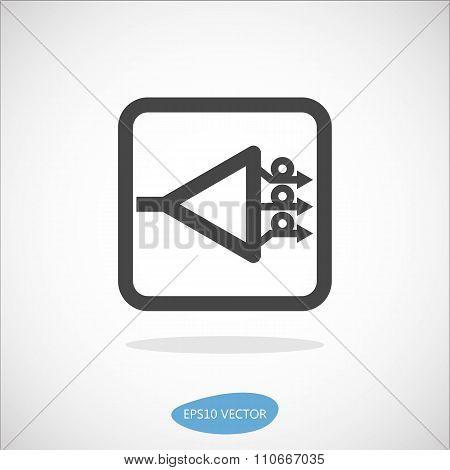 Gpon Icon - Isolated Vector Illustration