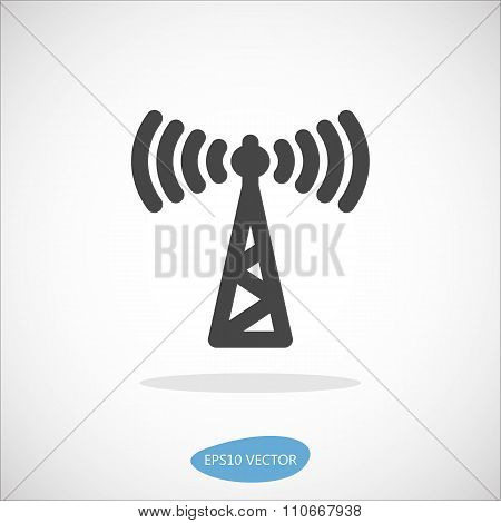 Access Point Icon - Isolated Vector Illustration. Simplified line design. poster