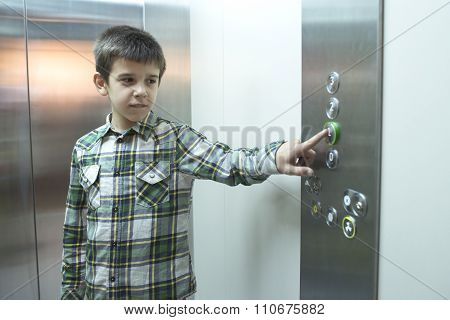 Child In An Elevator