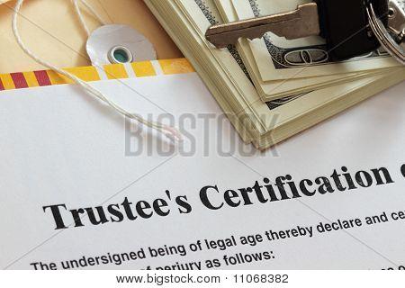 Trustee Certification