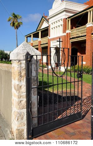 Gate at the Presbytery: Fremantle, Western Australia