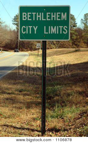 City Bethlehem Sign