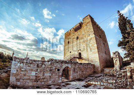 Kolossi Castle a former Crusader stronghold. Limassol District. Cyprus.