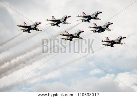 Thunderbirds Flying In Formation