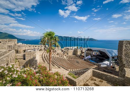 Kanli Kula fortress amphitheater and concert stage