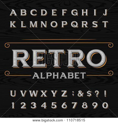 Distressed retro vector typeface.