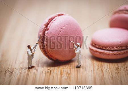 Miniature Painters Coloring Macaroon. Color Tone Tuned.