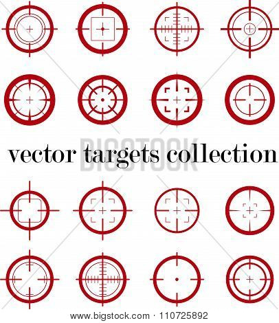 Collection of vector targets.
