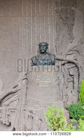 Composer Antonin Dvorak Tomb In Vysehrad Cemetery, Prague
