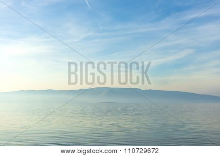 Scenic view of a small island