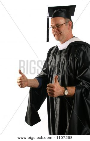 Professor Congratulates Graduates