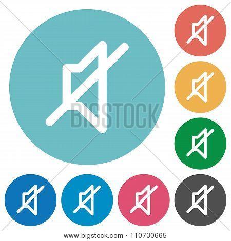 Flat Mute Icons
